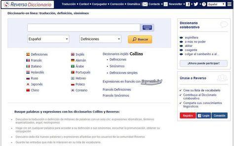 Reverso es una práctica herramienta online que sirve como diccionario, traductor online, conjugador de verbos, corrector gramatical y mucho más.