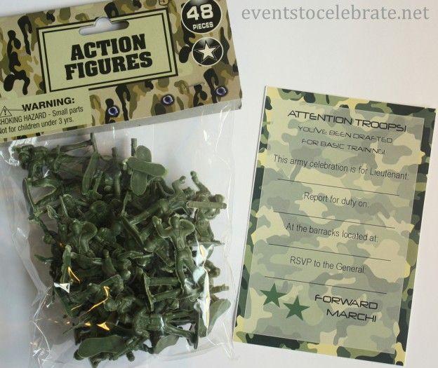 Army Invite Free Printable