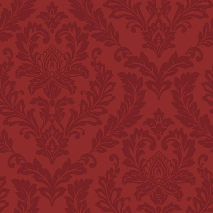 56 Sq Ft Red Damask Wallpaper Purples Red Wallpaper Red Damask Damask Wallpaper