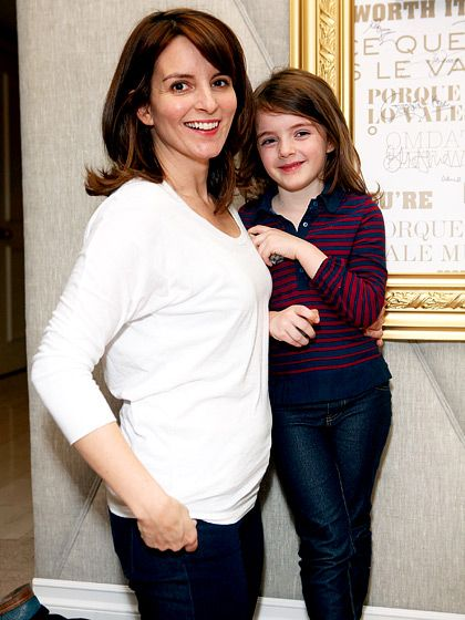 Tina Fey and her daughter Alice