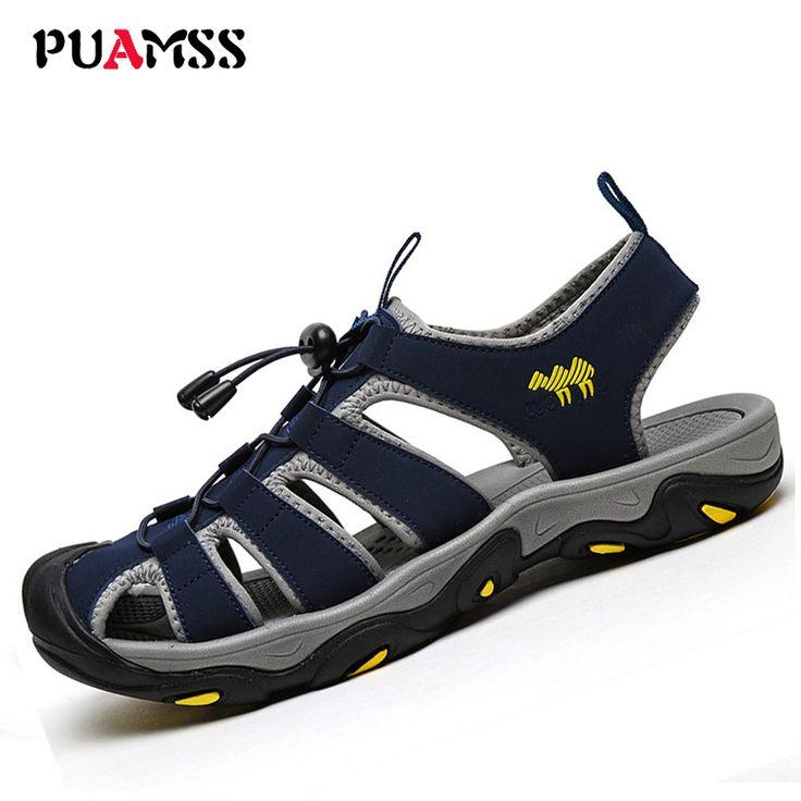 Men's Sandals Summer High Quality Brand Shoes Beach Men Sandals Men Causal Shoes Super Fiber Fashion Outdoor Waterproof Sandals //Price: $42.78 & FREE Shipping //     #VAPE