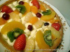 tarte aux fruits a la creme mousseline / facile et rapide bonjour tout le monde, bien pris...