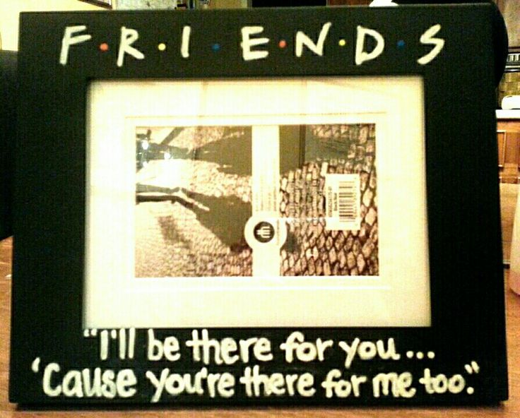 Friends TV show DIY picture frame