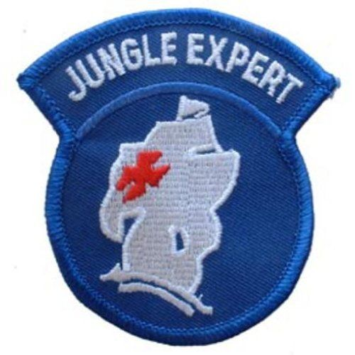 "U.S. Army Jungle Expert Patch Blue & White 3"" . $8.99. This is a new U.S. Army Jungle Expert Patch Blue & White 3"""