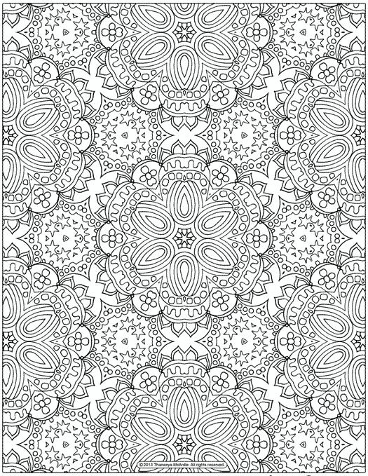 Free Abstract Pattern Coloring Page Detailed Psychedelic Art By Thaneeya McArdle