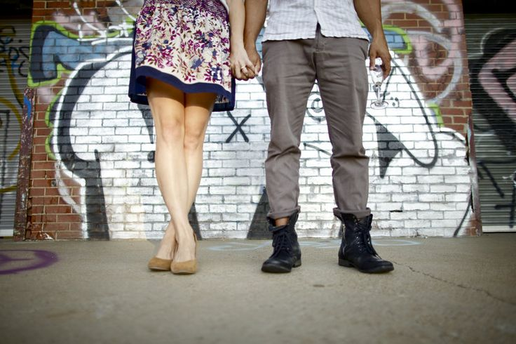 Urban Engagement Photos with Grafitti Bi-Racial Photos by Our Ampersand Photography