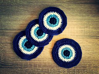 I started making coasters for a tent sale and a friend asked if I could make her some evil eye coaster…great idea!! And so I did….