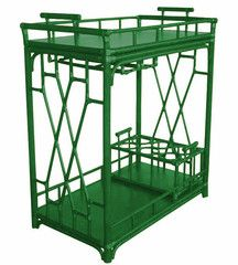 Emerald is lively for entertaining! The Worth Rattan Bar Cart by @RoxyTeOwens // SocietySocial #emerald