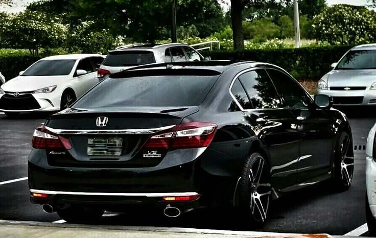 When it comes to modifying cars, a honda accord is a great car to use. My New 2016 Honda Accord Touring V6 with my Old Wheels