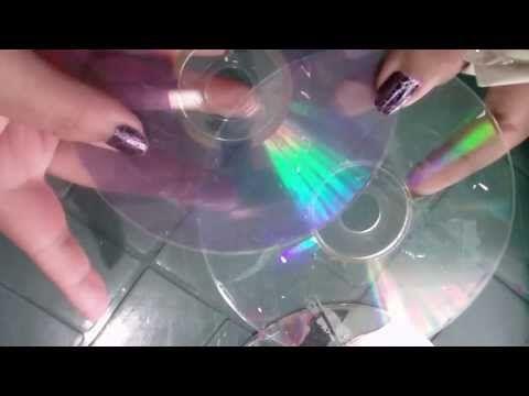 como dejar los cds transparentes para manualidades - YouTube