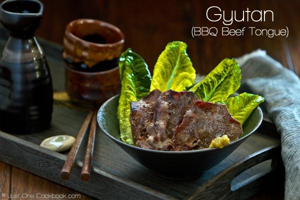 BBQ Beef Tongue  http://justonecookbook.com/blog/recipes/gyutan-bbq-beef-tongue/#more-18107