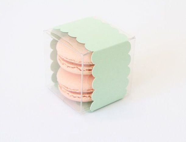 Fun #Favors - Don't forget to thank your guests with a little treat to take home. We love this sweet scalloped packaging! Tableau Party Scallop Band Favor Box, 20 for $35 @etsy