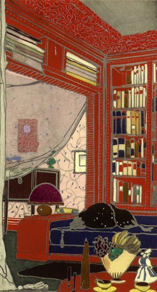 Boudoir-Library ~ artist Emile-Jacques Ruhlmann, From
