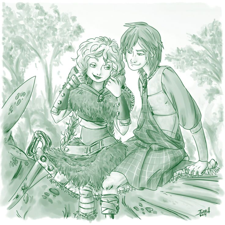 VikingMerida!! & ScottishHiccup!!      Merida: Better you hold tightly, highland. Hiccup: Sure my Lady…OMFG I love this.
