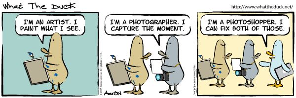 """""""The Difference Between an Artist, a Photographer, and a Photoshopper"""" #photographyhumour  Hilarious!"""
