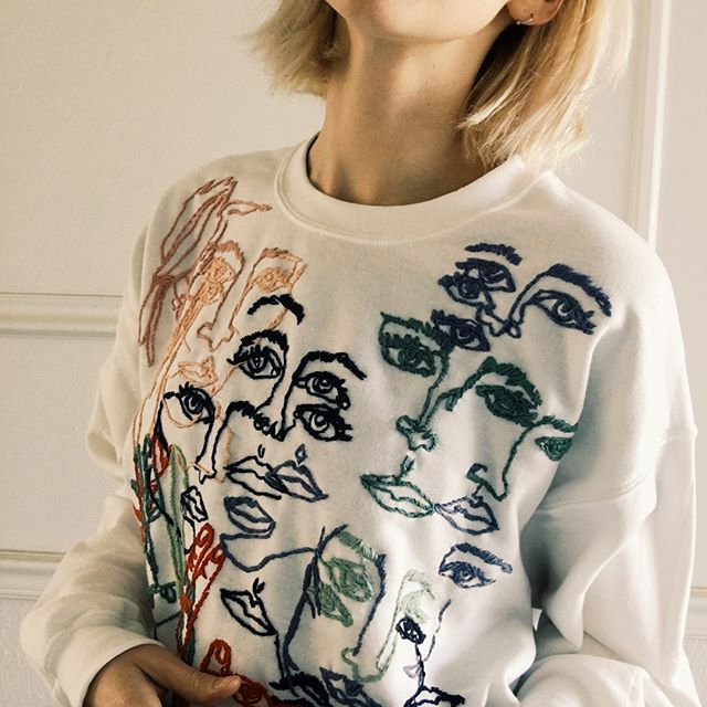 Contour sweatshirt  #embroidery