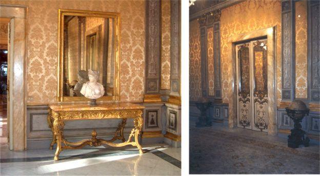 Restauri di mobili ed arredi d'epoca effettuati a Palazzo Chigi dal laboratorio di Restauro di RomAntiquariato.it