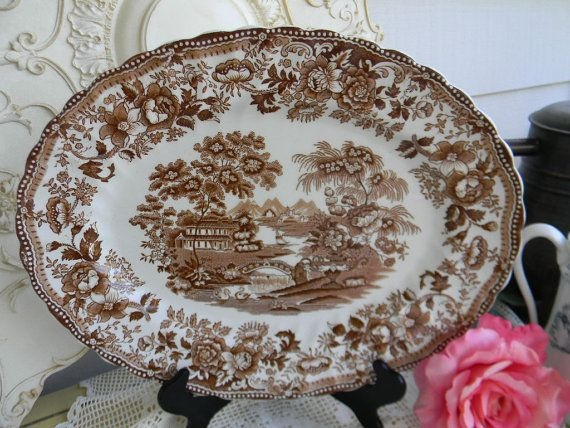 17 Best Images About Brown Transferware On Pinterest