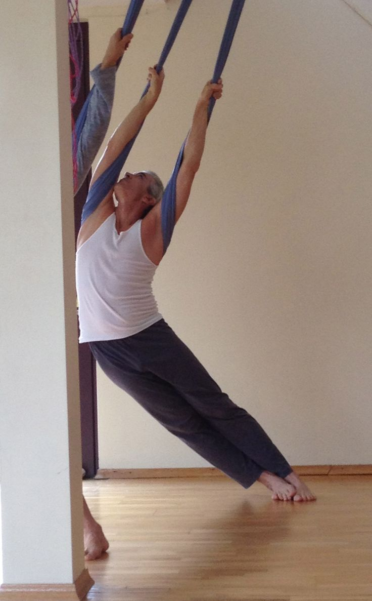aerial yoga love this stretch