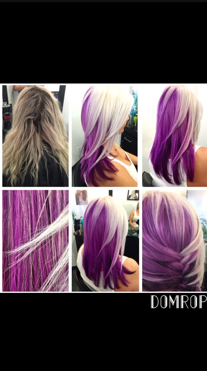 WILD ORCHID Applied ARTEGO 5.26 to the bottom third, I separated the blonde into two sections and applied silver my colour reflex to the top, and then applied 5.26 to the mid section and rinsed once her hair became the beautiful light purple it is. I also cut her a little differently, to create a dramatic affect, I gradually razored the edges of the top section to create this amazing wild orchid!   by: Dominick Ropson   GO TO icanartegocanada.ca To vote for me so I can win a trip to Rome!