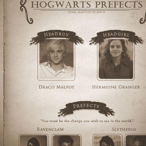 Hogwarts News | Hogwarts Prefects: Hermione and Draco