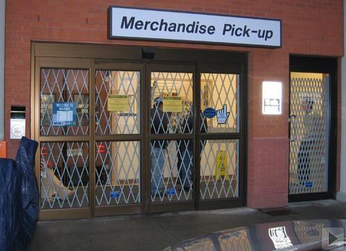 storefront gates closed
