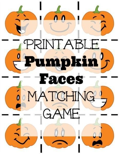It's Fall! And as a fun little game for your preschooler, I've created a fun little printable pumpkin faces matching game.