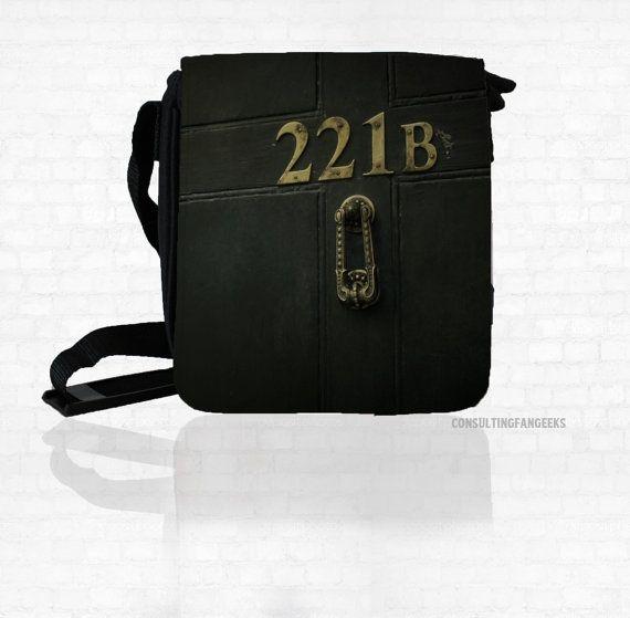 SHERLOCK  221 B Door  Small Messenger / Shoulder Bag & 19 best Sherlock Crafts images on Pinterest   Sherlock crafts Craft ...