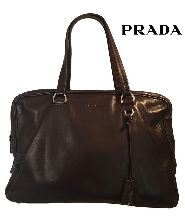 Prada Authentic Dark Brown Leather Women Purse #PRADA #ShoulderBag