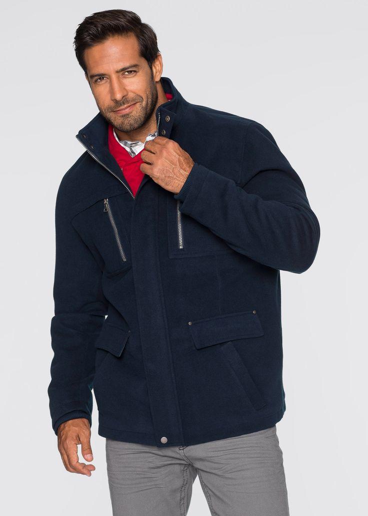 Giaccone in tessuto effetto lana regular fit Blu scuro - bpc selection è ordinabile nello shop on-line di bonprix.it da ? 59,99. In tessuto dall'elegante ...