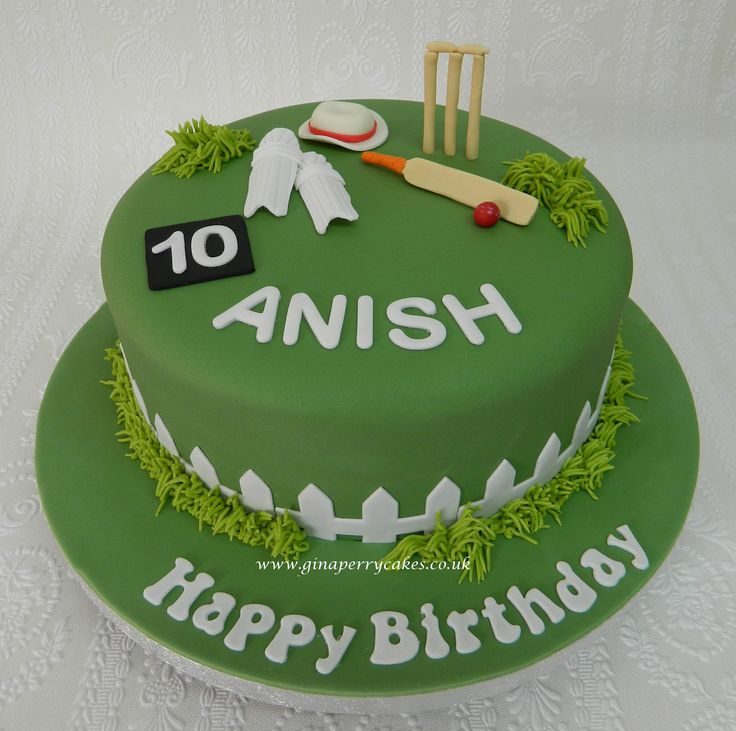 10th Birthday cake for a Cricket fan