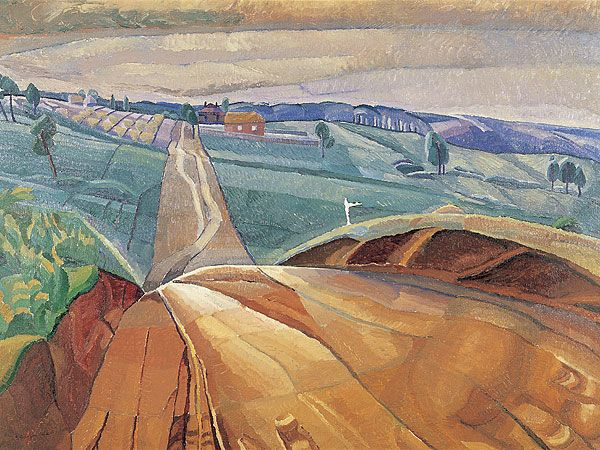 Grace Cossington Smith - Landscape at Pentecost 1929  (images: The National Gallery of Australia) >>> I would love a print of this.