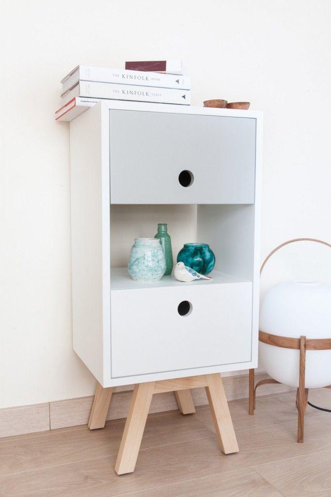Las 25 mejores ideas sobre aparador gris en pinterest for Muebles pintados en blanco y gris
