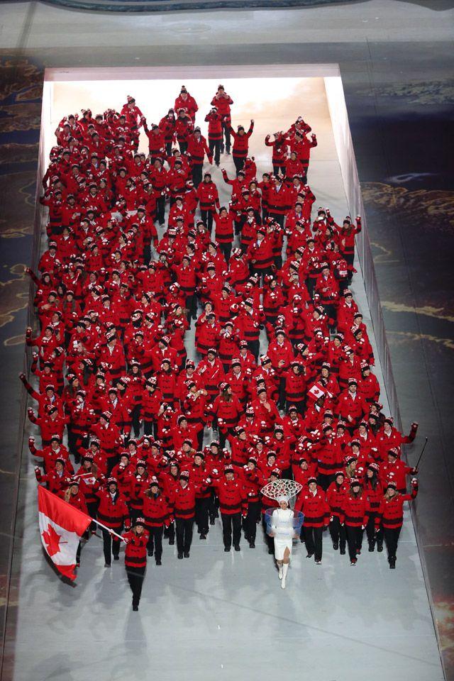 Team Canada in Opening Ceremonies