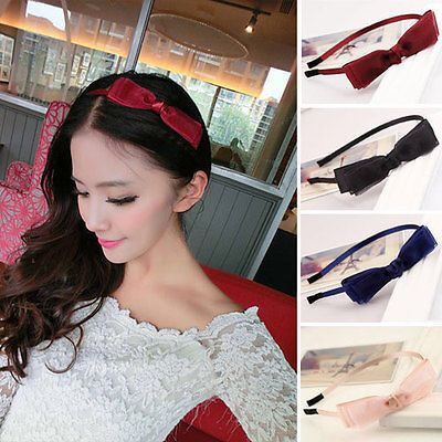 NEW Fashion Women Cute Girl Yoga Elastic Turban Bow Hair Band Headband HOT