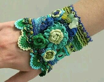 Beautiful blue and green cuff