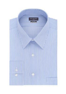 Van Heusen Men's Big & Tall Dress Shirt - Blue - 18.5 32/33