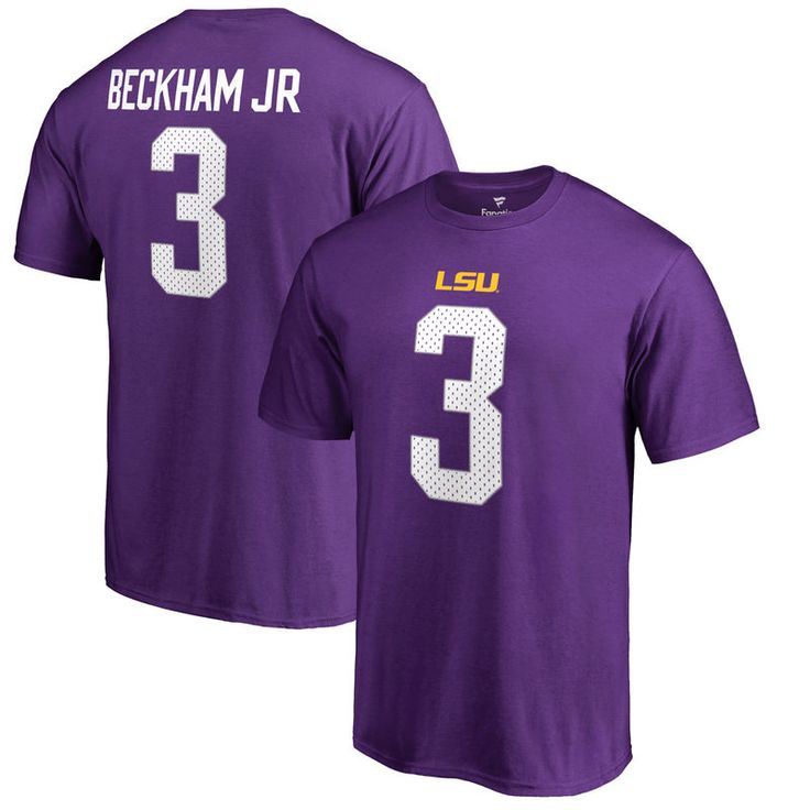 Odell Beckham Jr LSU Tigers Fanatics Branded College Legend Name & Number T-Shirt - Purple