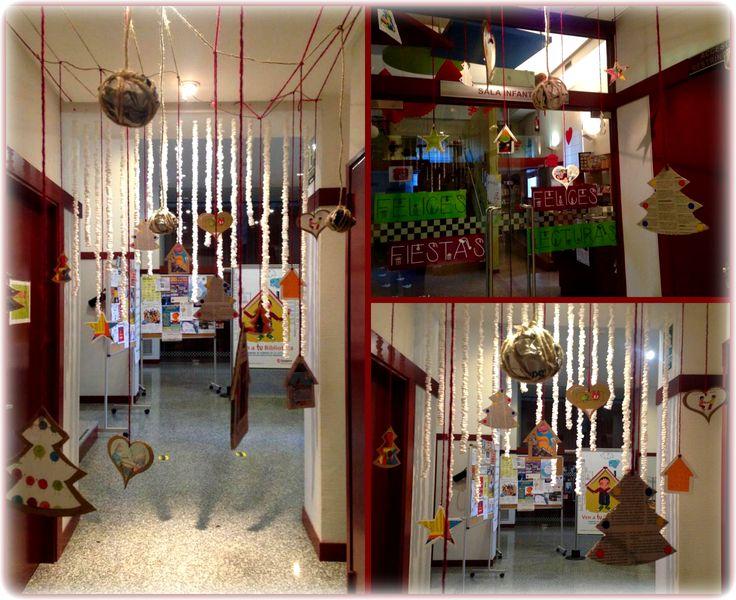 La Sala Infantil se viste de #Navidad. Biblioteca Manuel Alvar (2014, Zaragoza).