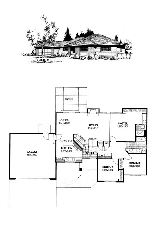 Contemporary Prairie Style Southwest House Plan 91649
