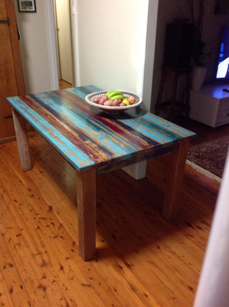 Our latest table edition !!!  We recreated the recyled boat timber look !!!