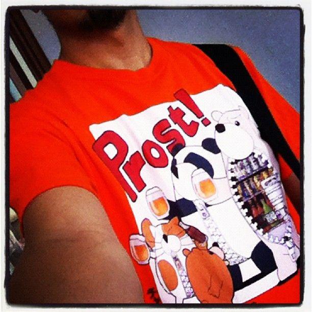 """今日はチャックま""""Prost!""""Tシャツで出撃( ̄▽ ̄) #chackma"""