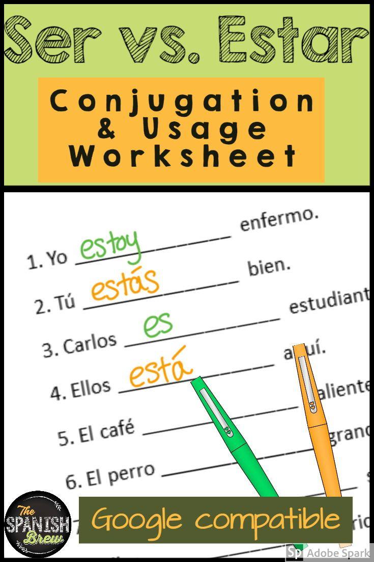 Ser Vs Estar Worksheet Sentence Unscramble W Digital Option Spanish Students Teaching Spanish Sentence Unscramble