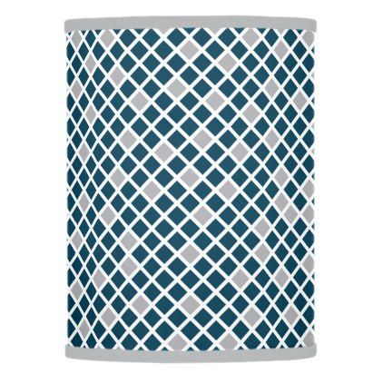 Diamonds - Sailor Blue & Harbor Mist Grey Lamp Shade - blue gifts style giftidea diy cyo
