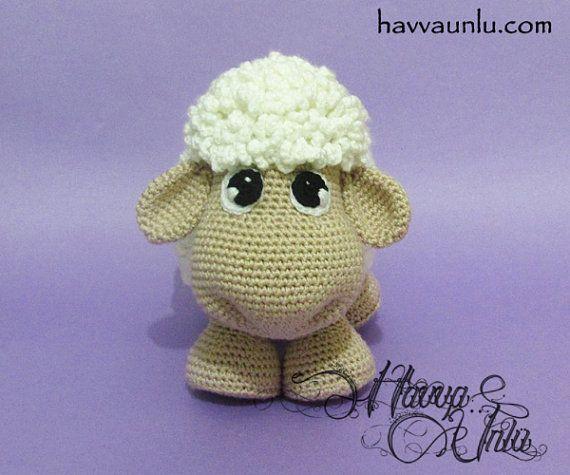 Tutoriales en alemán patrón de las ovejas por HavvaDesigns en Etsy                                                                                                                                                                                 Más