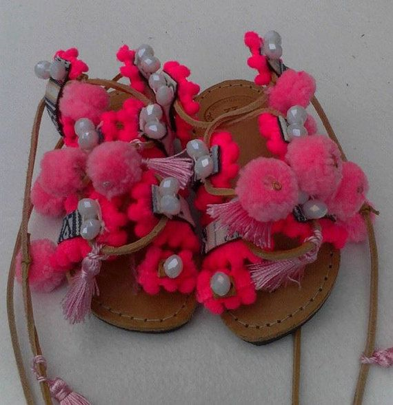 Bohogypsytie up girl sandalsbaby sandals by boutiqueofsandals
