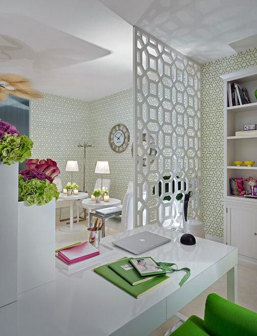 Room Divider Could Also Use White Lattice