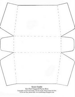 Small and large paper purse templates - great template with step by step instructions.