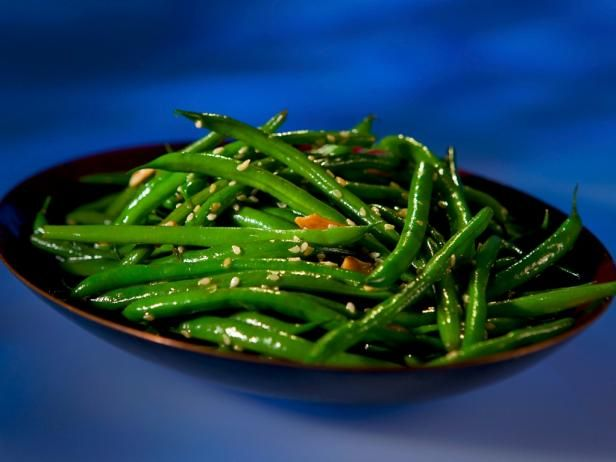 Guy's Soy Green Beans : Soy sauce and garlic make Guy Fieri's side an exciting way to get your greens.