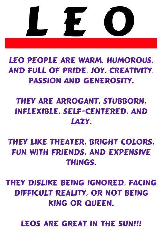 Note Card, Leo, Horoscope, Description, Fun, Humorous